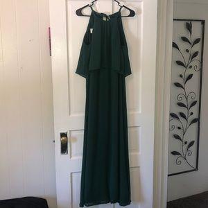 Juniper green David's bridal bridesmaid dress